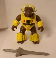 Battle Beasts #64 Musky Ox With Weapon, Black dot Rub (Water)