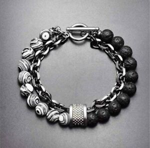 Obsidians Mens Bracelets Tigers Eye  8mm Beads And Stainless Steel