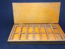 Old Dove Tailed Multi compartment Box