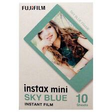 Fuji Instax Mini Película Instantánea marco azul de cielo-entrega UK LIBRE
