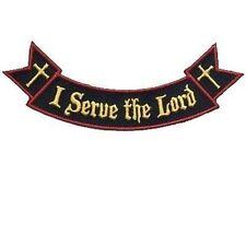 Ribbon Rocker I Serve The Lord Christian Jesus Bible Verse Biker Patch PAT-1533