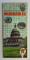 Vintage STREET MAP: 1965 Washington DC - Texaco