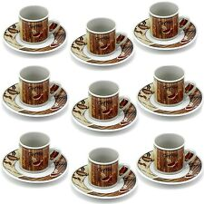 12 Tlg Espressotassen Kaffeeservice Braun Set Mokkatassen Kaffeetassen Espresso