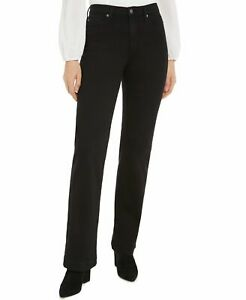 7 For All Mankind Women's Jeans Black Size 29 Denim Straight Stretch $215 #359
