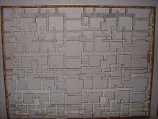 1950's MID CENTURY MODERN CAST ALUMINUM WINDOW DIVIDER ABSTRACT BRUTALIST 1 of 2