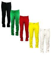 Georgio Peviani Vice Jeans Mens Red Yellow Green Regular Straight Fit Leg Paris