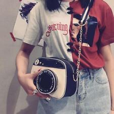 Women Camera Shape Shoulder Bag Zipper Cross Body Handbag Bag Small Purse WT