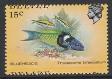 Belize 5102 - 1984 FISH - BLUEHEADS 15c PERF VARIETY unmounted mint