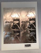STAR TREK DEEP SPACE NINE Uncut PROMO Card Sheet Silver Foil SKYBOX 288/1000 HTF