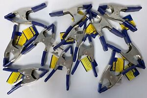"""LOT OF 12 IRWIN 2"""" METAL SPRING CLAMPS 1901243 (6"""" LONG, 2"""" JAW WIDTH) 222702"""