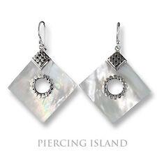 Perlmutt Muschel Ohrringe Silver Earrings Hänger Silber Schmuck SER209