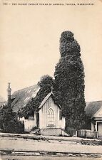VTG 1908 POSTCARD OLDEST CHURCH TOWER IN US TACOMA WA ST. PETER'S Antique