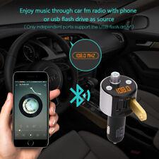 Wireless Bluetooth Car Kit FM Transmitter Radio MP3 Player USB Charger Adapter