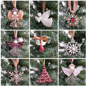 Victorian Style Christmas Tree Decorations Beautiful Angels Snowflakes Stars etc