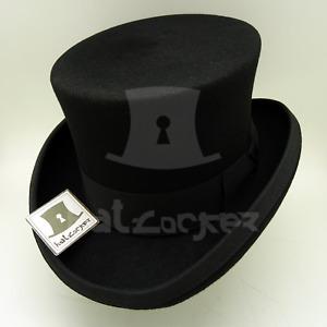 RETRO Wool Felt Boys Top Hat Kids Topper Child Tuxedo Party NEW | 52cm | Black