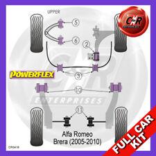 Alfa Romeo Brera (07-10) Fr Upper Arm Rr Bushes Adjust Powerflex Full Bush Kit