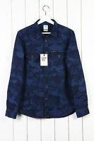 Neuf LEE 101 travailleur Chemise coupe classique indigo jeans camouflage S/M/L /