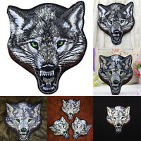 Animal wolf head iron on patches Sewon embroidered patch motif applique JPUK
