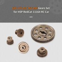 HSP RC 1/10 Differential Steel Metal Main Gear 64T 17T 21T 26T 29T Motor Gear...