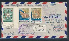 06296) KLM FF Amsterdam - Sofia 29.6.56, Reco-DS ab Goa Portug.Indien RR!!