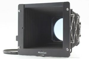 【Exc+++++】 Mamiya RZ67 RB 67 Bellows Hood G3 & 77mm Adapter Scale Set From Japan