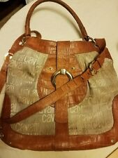 just Cavalli cloth and leather purse