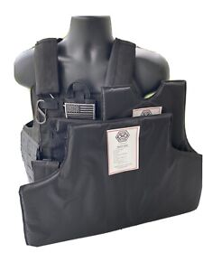 Green2 Tactical Black Vest With Level 3a Soft Armor Inserts