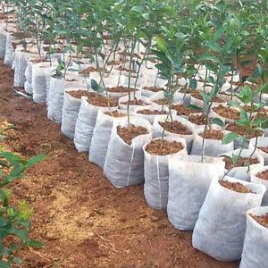 100Pcs Biodegradable Non-woven Nursery Bag Pot Plant Grow Bags Fabric Pots Pouch