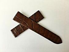 Cartier OEM Brown Alligator Watch Band Strap for Santos 100 18mm lugs