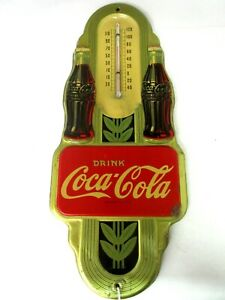 VINTAGE COKE COCA COLA    SODA 1941  STORE THERMOMETER ADVERTISING   A-248