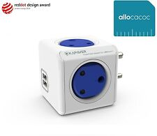 KAPAVER® Allocacoc PowerCube USB Spike Guard Wall Adapter with 4 [India Socket]