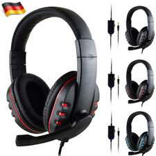 Gaming Headset Stereo Mikrofon Kopfhörer für Laptop PC Smartphone PS4 3.5mm DHL