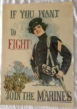 BEAUTIFUL VINTAGE HOWARD CHANDLER CHRISTY ART PRINT MILITARY MARINES POSTER