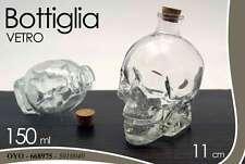 BARATTOLO BOTTIGLIA IN VETRO FORMA TESCHIO 11 CM 150 ML OYO-668975