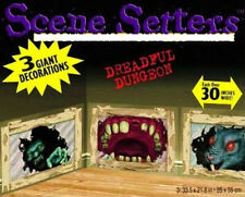 DREADFUL DUNGEON Scene Setter Halloween Party wall decoration kit Rat Monster +