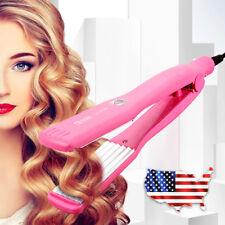 Professional Hair Crimper Crimping Wave Iron Ceramic Curler Roller Waver US Plug