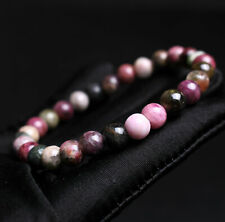 Tourmaline Crystal Women Beads Bracelet 7.2mm Top Quality Natural Colorful