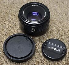 Minolta MAXXUM AF 50MM F1.7 Sony Alpha A mount MADE IN JAPAN