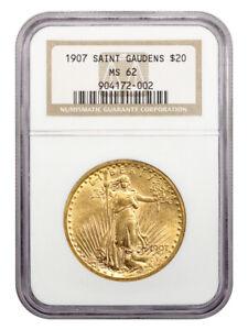 1907 Saint Gaudens $20 NGC MS62 - First Year Saint Gaudens Issue