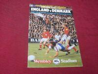 England  vs Demark    12th September  1979  Original Programme