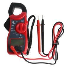 LCD Digital Voltmeter Ammeter Ohmmeter Multimeter A/DC Tester Clamp Meter Red GA