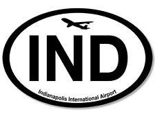 """5"""" ind indianapolis international airport car bumper sticker decal usa made"""