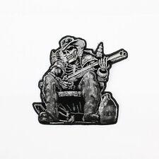 Biker Motorrad Choppers Moonshine Skeleton Redneck Gun Aufbügler Aufnäher Patch