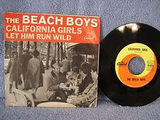"""The Beach Boys, California Girls/Let Him Run Wild, Capitol 5464, 1965, 7"""" 45 RPM"""