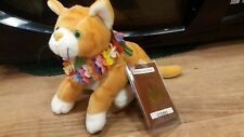 Hawaiian Collectibles Nihi Kitty Cat Stuffed Plush Passport Tag