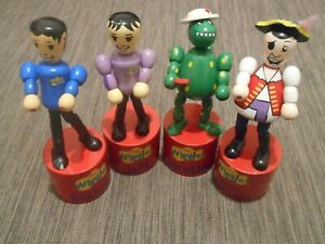The Wiggles Anthony Jeff Dorothy Feathersword Wiggly Pop Figure Rare Wooden Toy