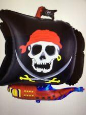 4 Pc Pirate Skull Crossbones Balloons Halloween Birthday Party Decorations