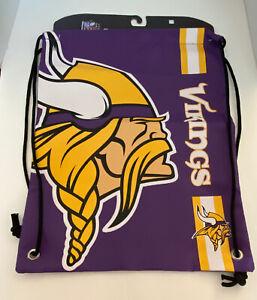 Munnesota Vikings NFL Football Drawstring Backpack Cinch Bag NWT