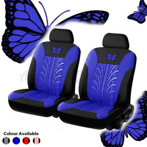 4PC Universal Car Seat Covers Set Front&Head Cover Seat Back Head Rest Protector