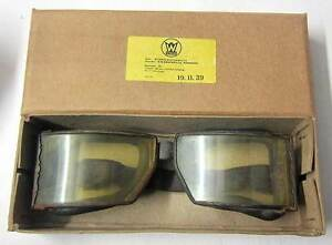 WW2 German Goggles Motorcycle Panzer Vintage aviator driving aged Wehrmacht WWII